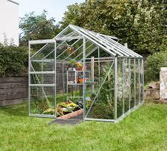 vitavia apollo silver plain aluminium greenhouse 6ft3 wide 1930mm x 10ft6 long 3210mm