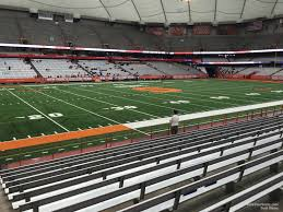 Carrier Dome Section 118 Syracuse Football Rateyourseats Com