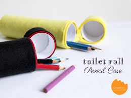 diy pencil case from toilet roll and felt onelmon