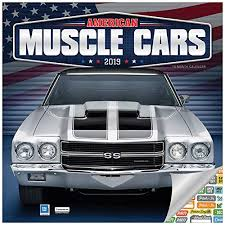 American Muscle Cars Calendar 2019 Set - Deluxe 2019 Muscle Cars Wall Calendar with Over 100 Calendar Stickers (American Muscle Cars Gifts, Office ...