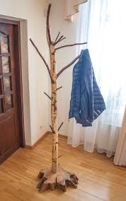 Free Standing Coat Rack With Shelf Coat Rack Free Standing Birch Coat Stand Rustic Birch Coat Stand 39