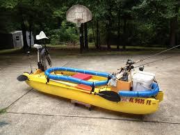 fishing kayak rigged with electric trolling motor alabama
