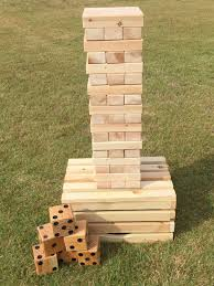 Lawn Game With Wooden Blocks Beauteous Large Wood Block Tower Stacking Game Set