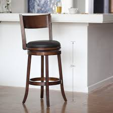 chair round brown wooden bar stool with four black metal legs charming astounding leather swivel stools
