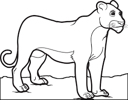This funny lion want to be colored to yellow color. Printable Female Lion Coloring Page For Kids Supplyme