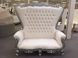 silver king queen throne chair loveseat
