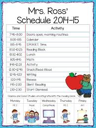 Elementary School Class Schedule Template - East.keywesthideaways.co
