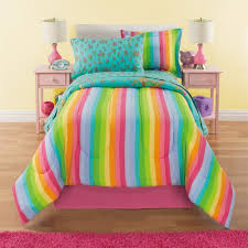 comforter set full unicorn reversible bedding beautiful allover flowers and fl pattern vibrant rainbows with clouds pink orange yellow blue aqua