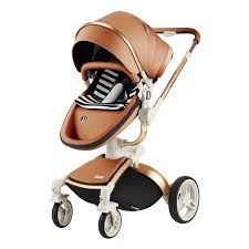 china dearest 3 in 1 high landscape leather baby stroller with sleeping basket china baby stroller 3 in 1 3 in 1 baby stroller
