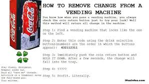 Vending Machine Code 4231