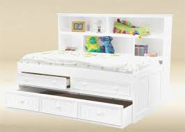 Bookcase Headboard Full Size Bed with Storage Stunning Adorable Kids