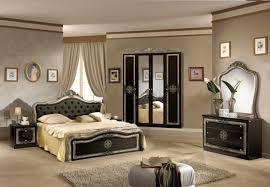 Schlafzimmer Lucy In Schwarz Silber 180x200 Cm Mit Schrank 4 Türig