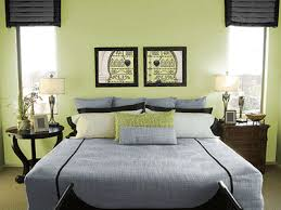 Green Wall Paint Art And Bedding Fresh Spacious Bedroom Decorating Ideas  E