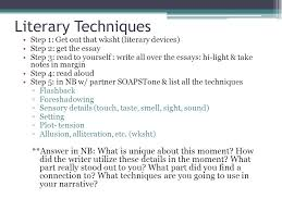 narrative writing overview ppt video online 13 literary techniques