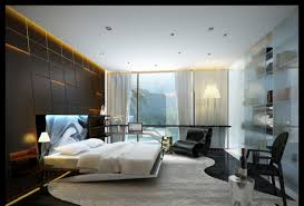 bedroom design modern. decoration: big glass window closed white curtain in contemporary bedroom designs with simple double bed design modern