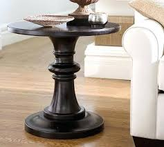 rustic round end table. Rustic Round End Table Lamps Pottery Barn Pedestal E