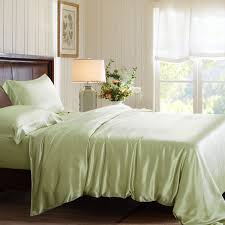 sage green silk duvet cover