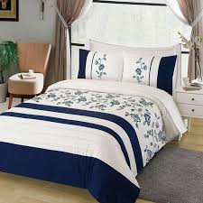 navy blue and white striped and