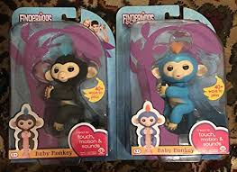 Fingerlings Interactive Baby Monkeys 2 Pack- Mia purple with white ...