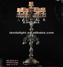crystal candelabra vintage chandelier floor lamp standing