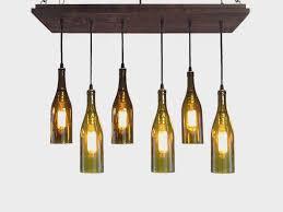 image of wine bottle chandelier frame