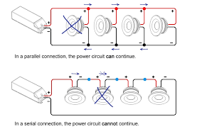 what is serial and parallel connection and when do i apply what how to wire multiple lights on one circuit at Wiring Recessed Lights In Parallel Diagram Power At Light