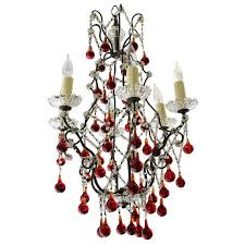 italian red clear crystal chandelier