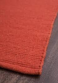 solid orange flatweave eco cotton rug 1