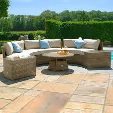 tuscany garden half moon sofa set
