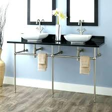sink with metal legs bathroom sink with metal legs console sinks art double for vessel small