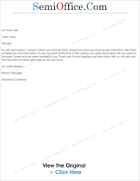 Thanks Letter To Customer Of Bank