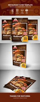 Restarunt Brochure Impressive Restaurant Flyer Template PSD InDesign INDD Flyer Templates