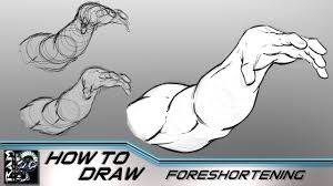 how to draw foreshortening for ic book superheroes tutorial