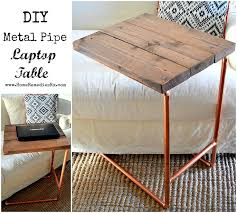 metal home furniture. diy metal pipe laptop table home depot challenge furniture
