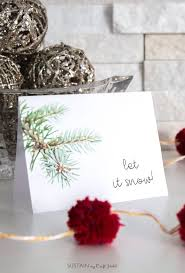 Greeting Card Samples Decembers Free Winter Printable Greeting Card Template