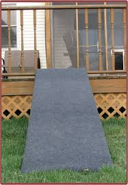 image of dog ramp for stairs outdoor