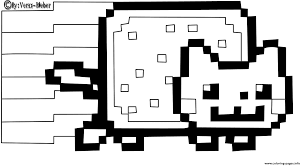 Small Picture Print nyan cat by vero bieber coloring pages Kara Pinterest