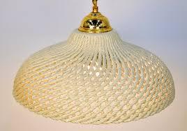 mid century modern cream ceramic and brass pendant lamp for at 1stdibs