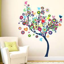 Tree Design Doodad Extra Large Exquisite Abstract Tree Design Wallsticker Matt