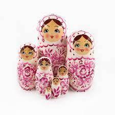 Người phụ nữ Nga - Tập sách búp bê Nga, 7 búp bê - Gzhel mua tại Global Rus  Trade