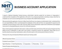Business Account Application New York Alcohol Training And Certification Corporate