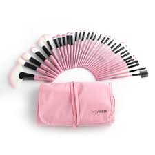 pink professional cosmetic eye shadow makeup brush set pouch bag r56 whole cosmetics makeup from akgxt 7 91 dhgate