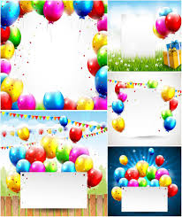 Free Birthday Backgrounds Birthday Backgrounds And Cards With Balloons Vector Free For