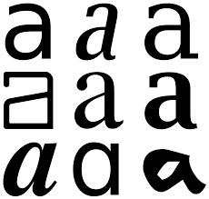 A F Kids Size Chart Glyph Wikipedia