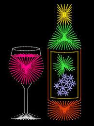 string art wine bottle. The pattern ...