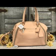 COACH Whipstitch Satchel 34339 NWT Apricot RT  595