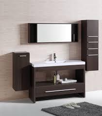 Bathroom Vanitiy Adorable Modern Bathroom Vanity Legion WT48R Clove Brown Resin Basin Top
