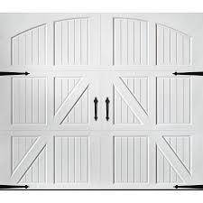 Shop Pella Carriage House 96 In X 84 White Single Garage Door 10 7