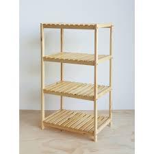 Kệ lò nướng - Kệ lò vi sóng - kệ nhà bếp đa năng bằng gỗ thông tự nhiên 4  tầng kích thước 60 x 40 x 110 cm - Kệ nhà