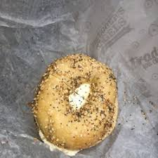 photo of bruegger s bagels schenectady ny united states everything bagel toasted with